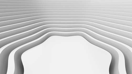 921696186 istock photo White wavy background-3d rendering 1135669883