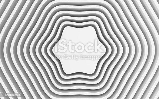 921696186 istock photo White wavy background-3d rendering 1135669890