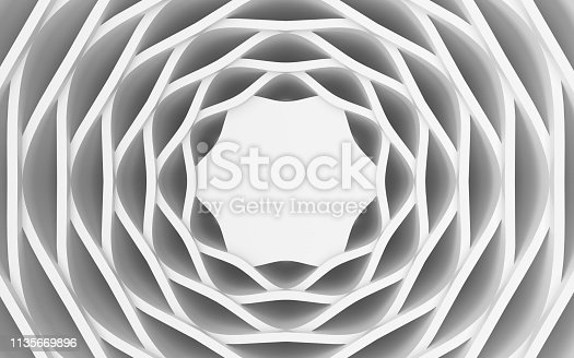 921696186 istock photo White wavy background-3d rendering 1135669896