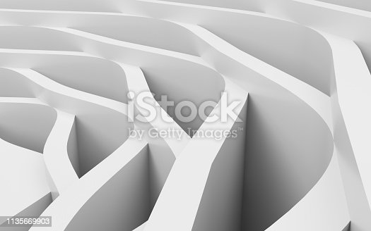921696186 istock photo White wavy background-3d rendering 1135669903