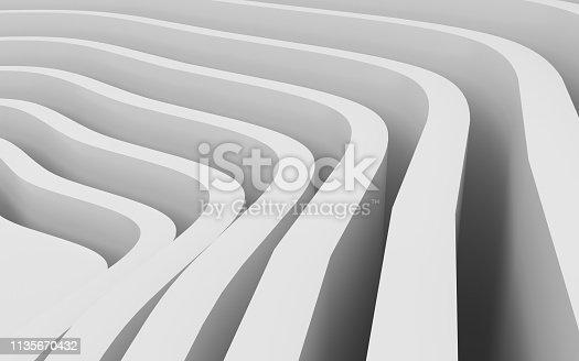 921696186 istock photo White wavy background-3d rendering 1135670432