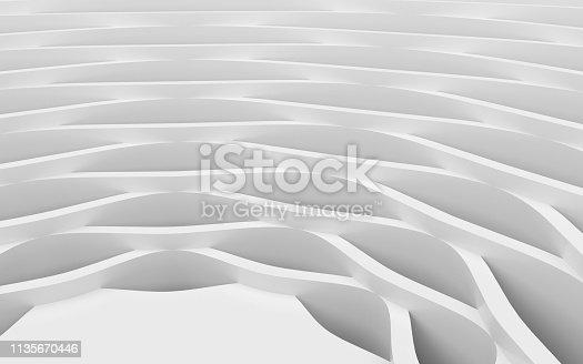 921696186 istock photo White wavy background-3d rendering 1135670446