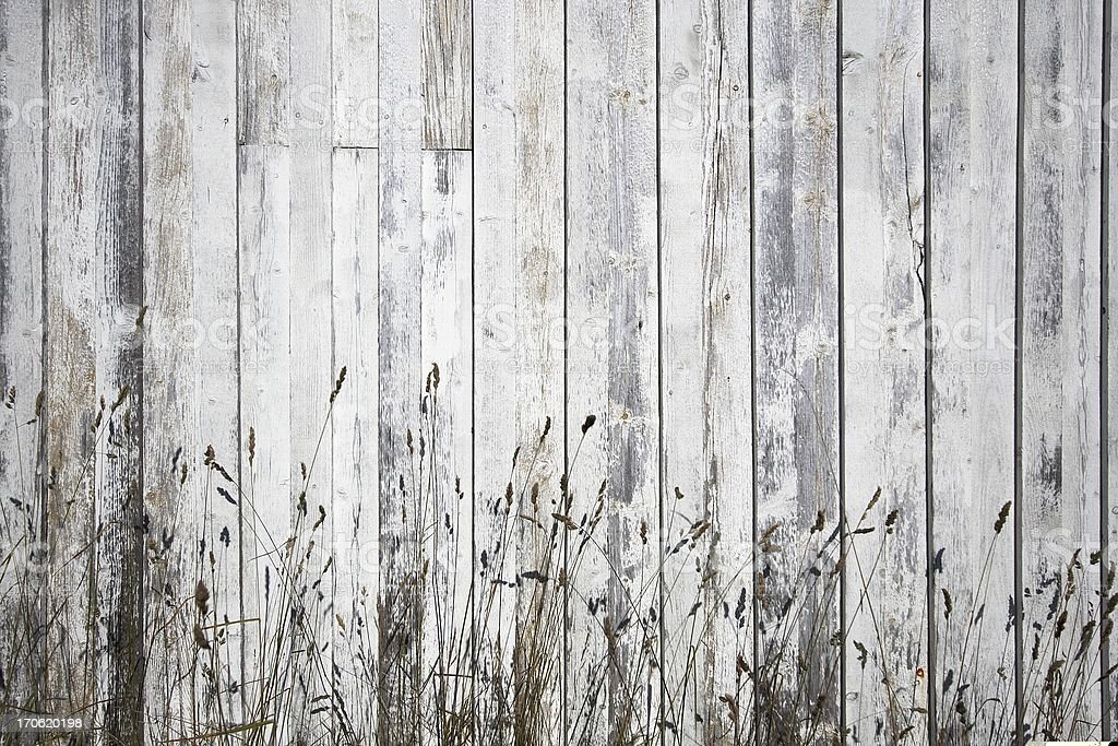 White weathered planks with stray background royalty-free stock photo