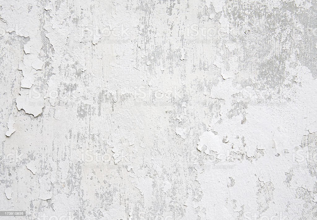 White weathered wall stock photo