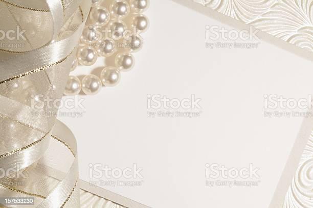 White Wedding Background Stock Photo - Download Image Now