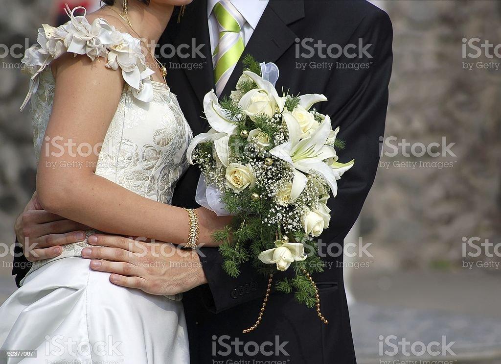 white wedding bouquet royalty-free stock photo