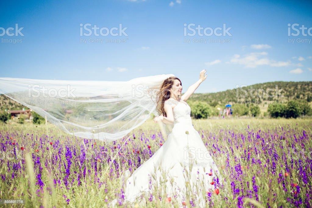 Weißen Hochzeit Kleid – Foto