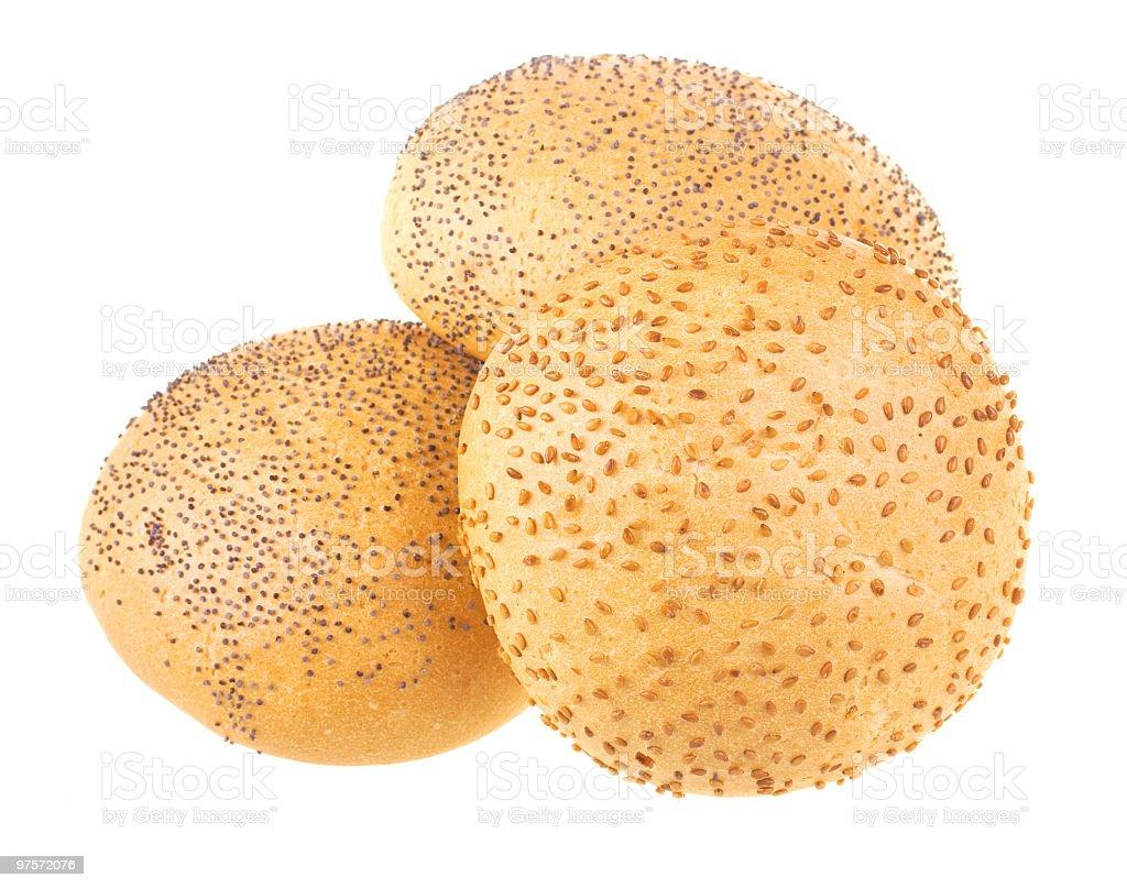 Blanc pains au blé complet photo libre de droits