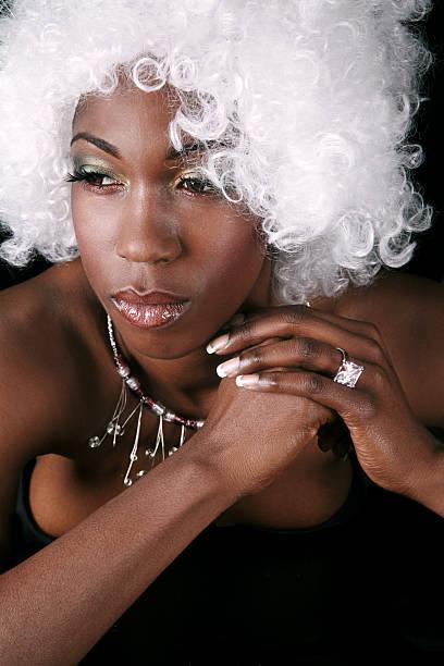 White Wig stock photo