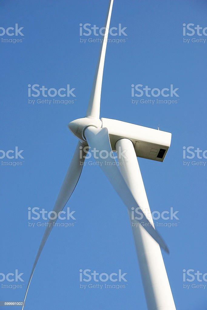 White wind turbine royalty-free stock photo