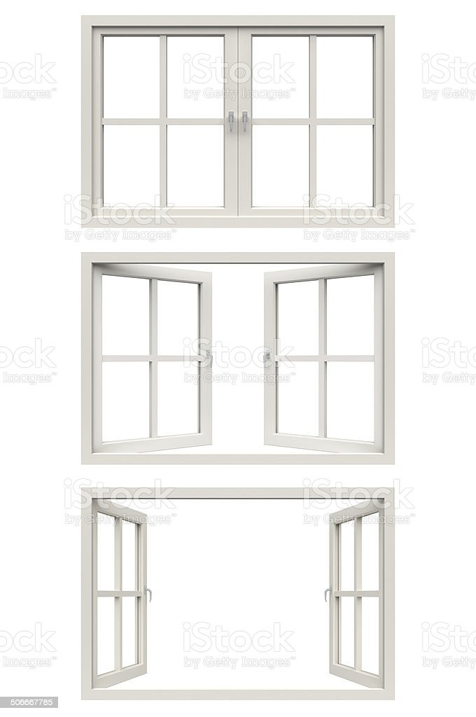 White Window Frame Stock Photo & More Pictures of Blank | iStock