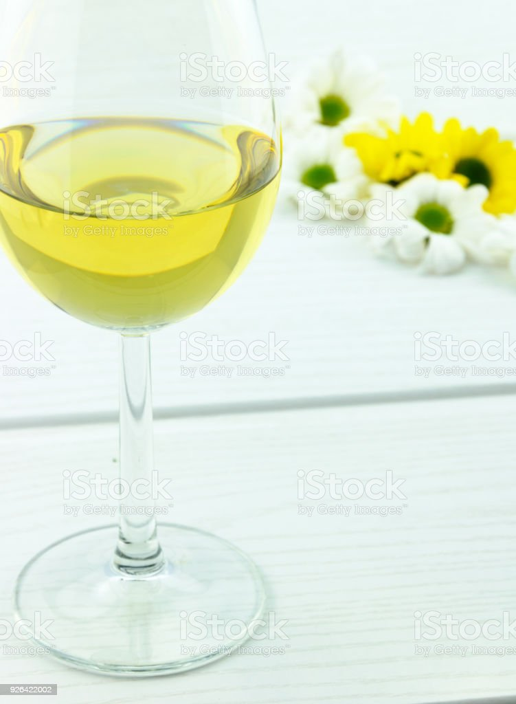 White wine and flowers stock photo more pictures of advertisement white wine and flowers royalty free stock photo mightylinksfo