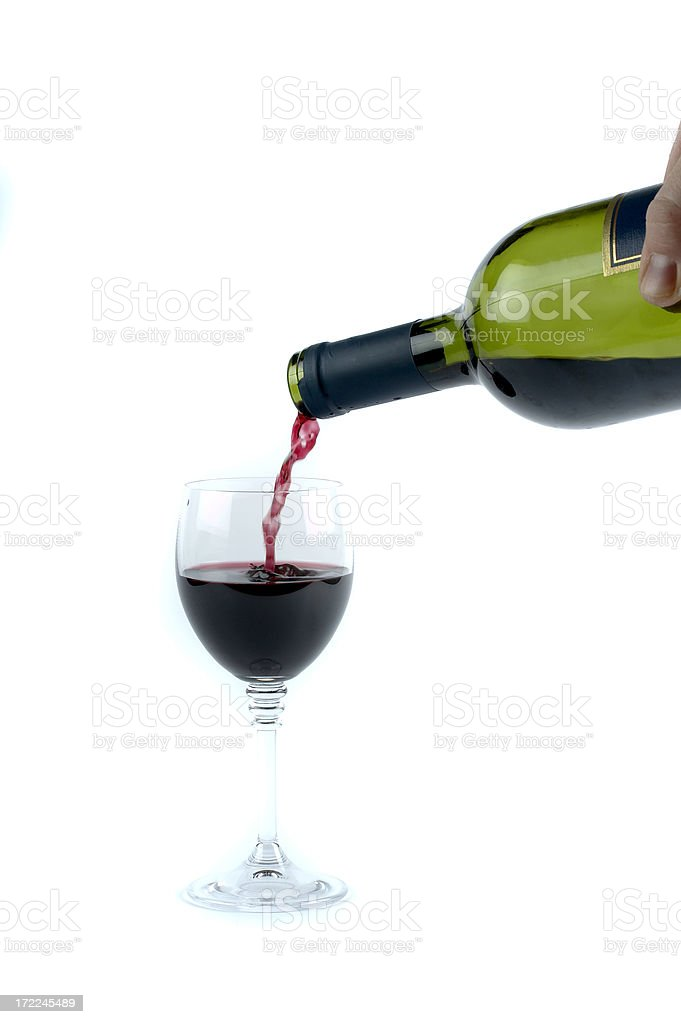 White wine bottle and glass royalty-free stock photo