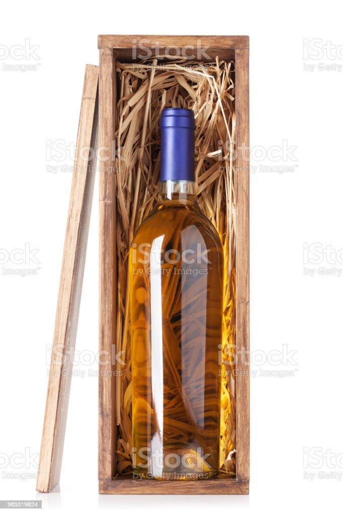 Bouteille de vin blanc - Photo de Alcool libre de droits