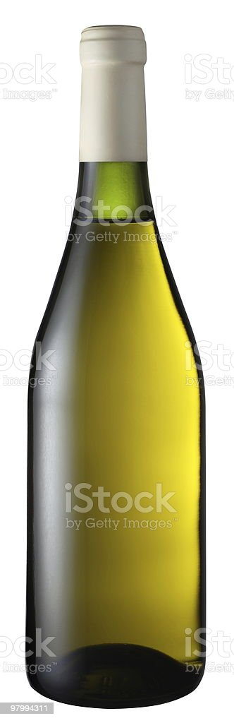 White wine bottle royalty-free stock photo