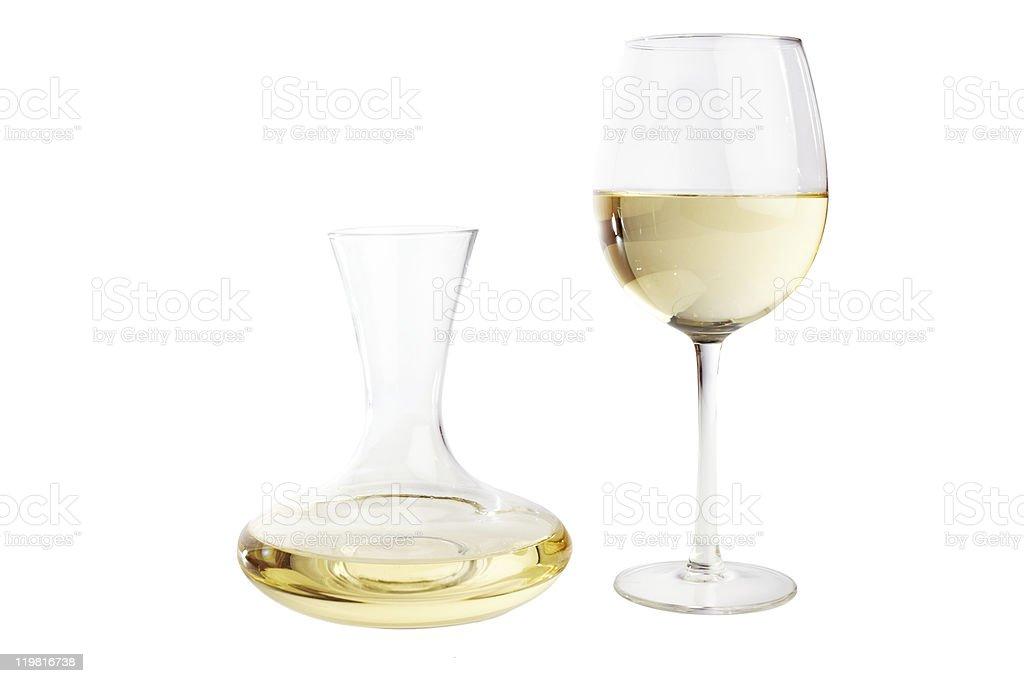 White wine carafe stock photo