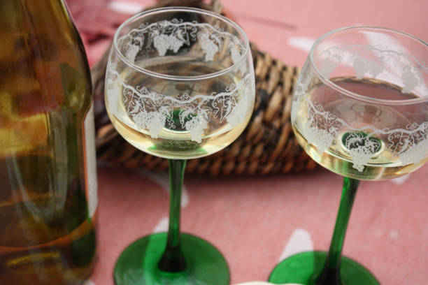 White wine from Alsace - foto stock