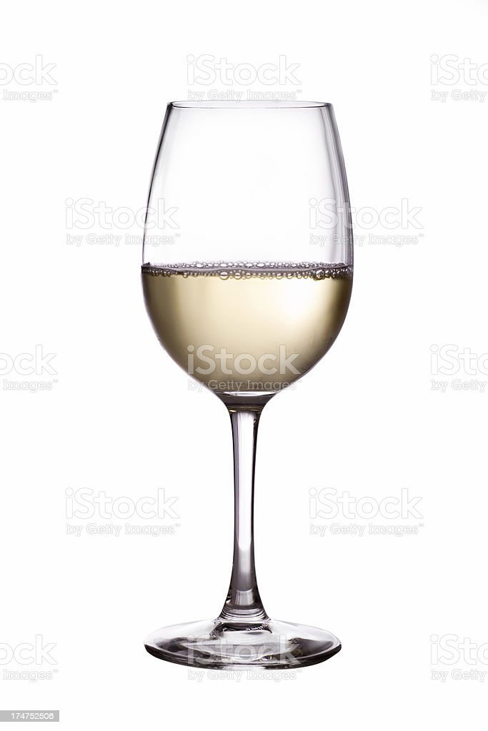 White Wine Glass royalty-free stock photo