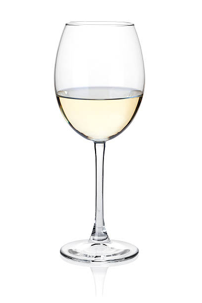 White wine glass White wine glass. Isolated on white white wine stock pictures, royalty-free photos & images