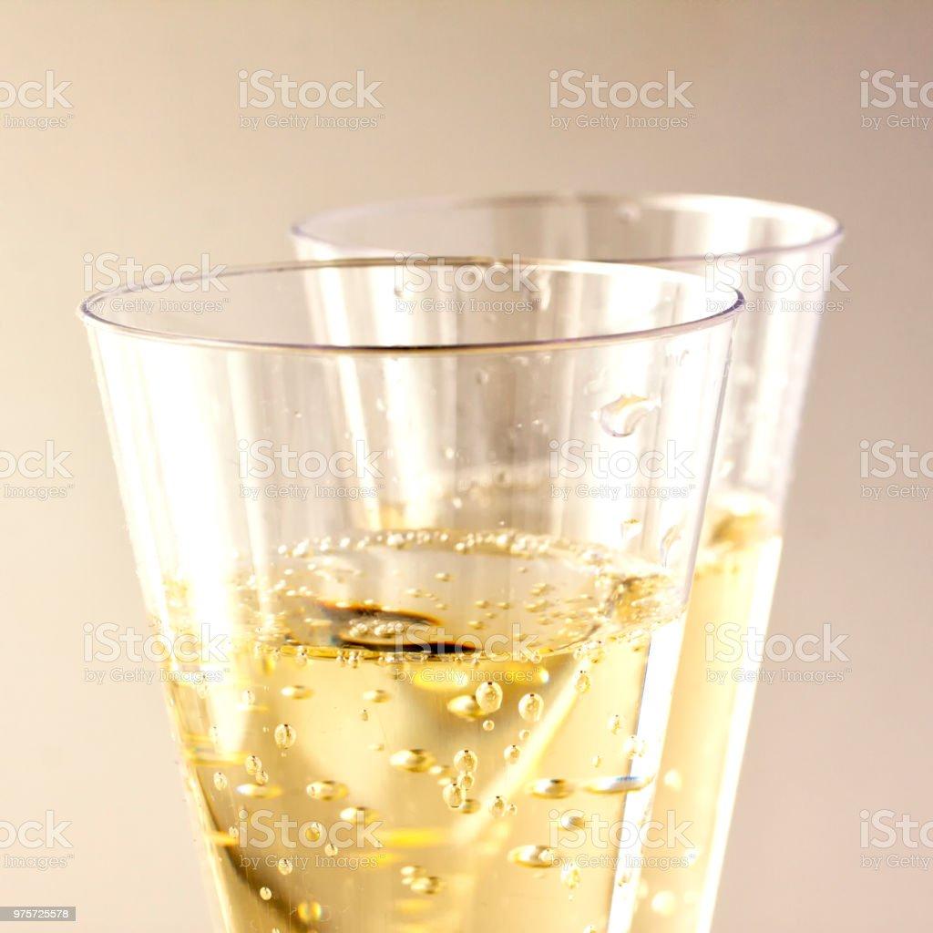 Weißer Wein Gläser - Lizenzfrei Alkoholisches Getränk Stock-Foto