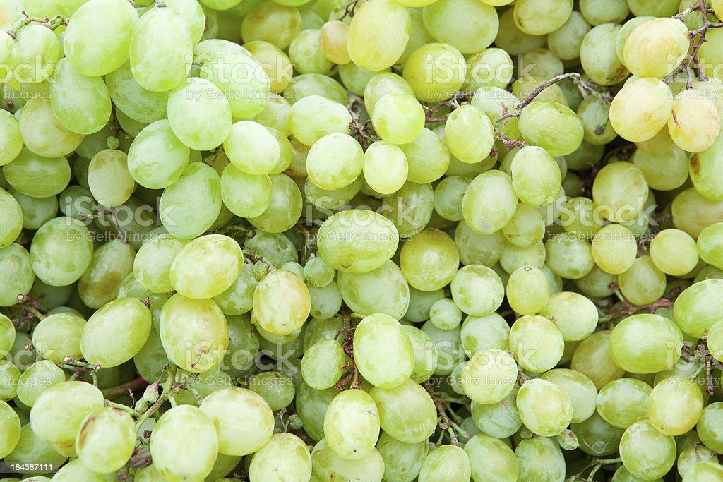 White wine grapes in a market stock photo