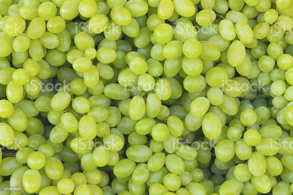 White wine grapes in a market stock photo