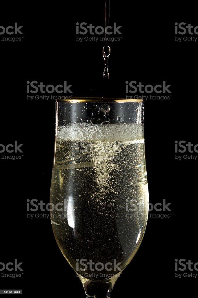 화이트 와인을 플룻 royalty-free 스톡 사진