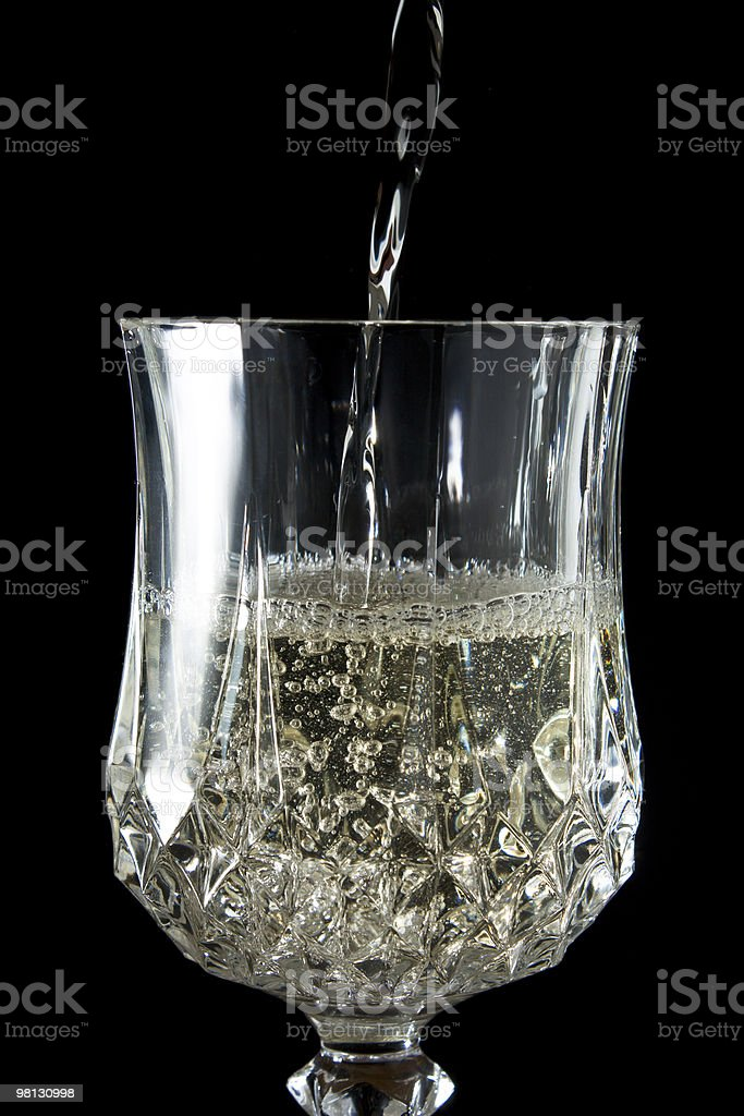 White Wine in a Goblet royalty-free stock photo