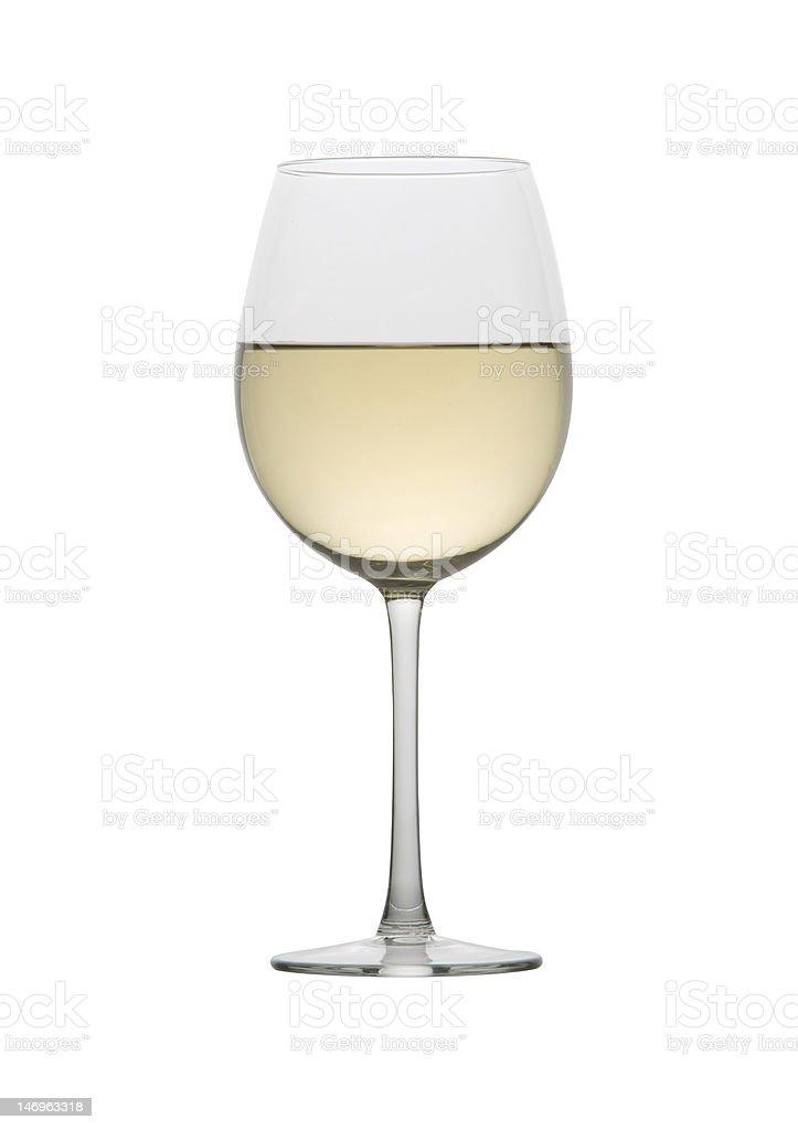 White wine in a stem glass stock photo