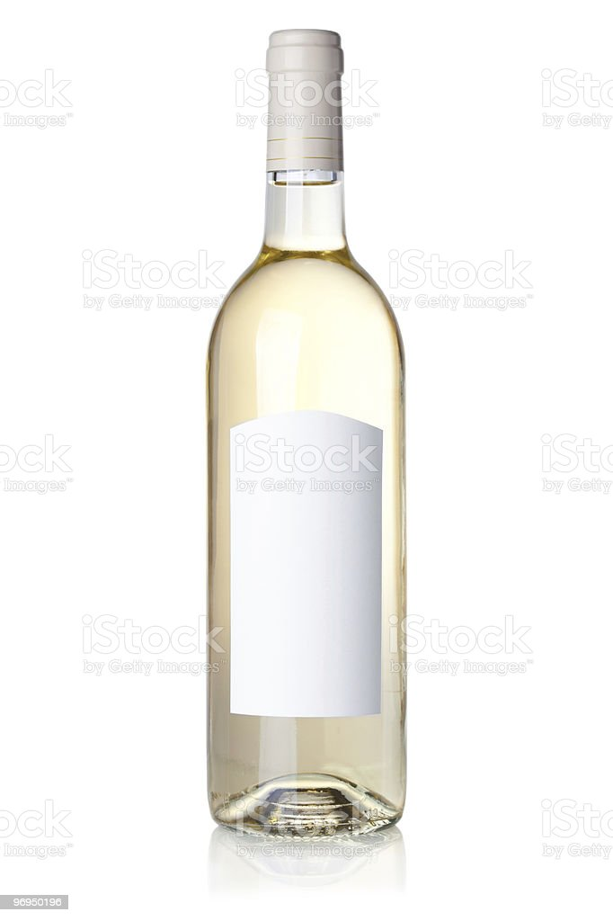 White wine in bottle royalty-free stock photo