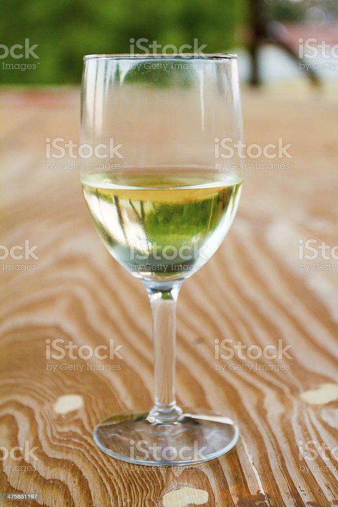 White Wine in Glass stock photo