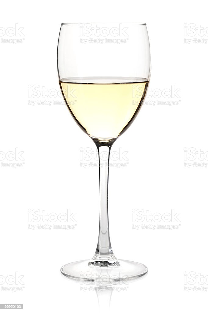 White wine in glass royalty-free stock photo