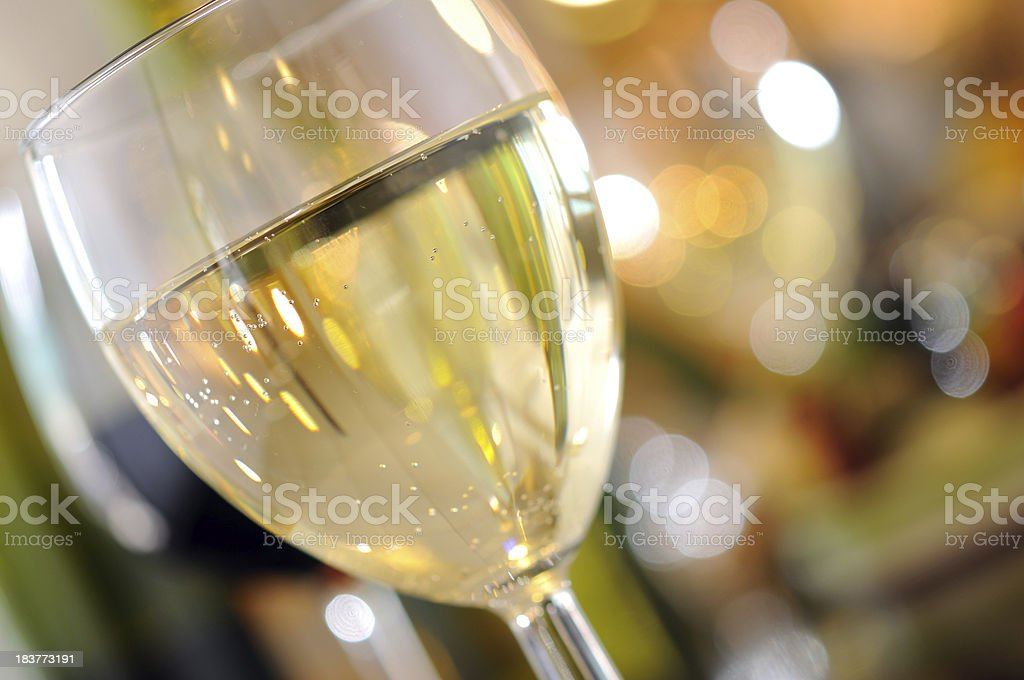 White Wine in Wineglass royalty-free stock photo