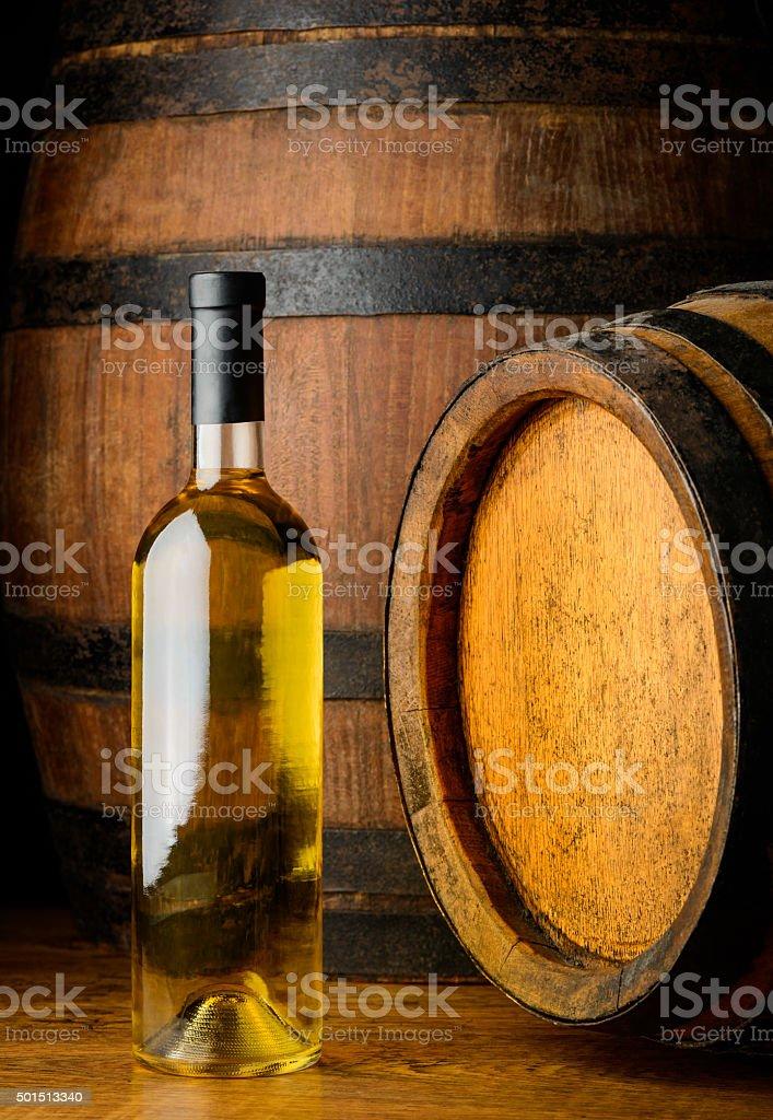 white wine on wooden background stock photo