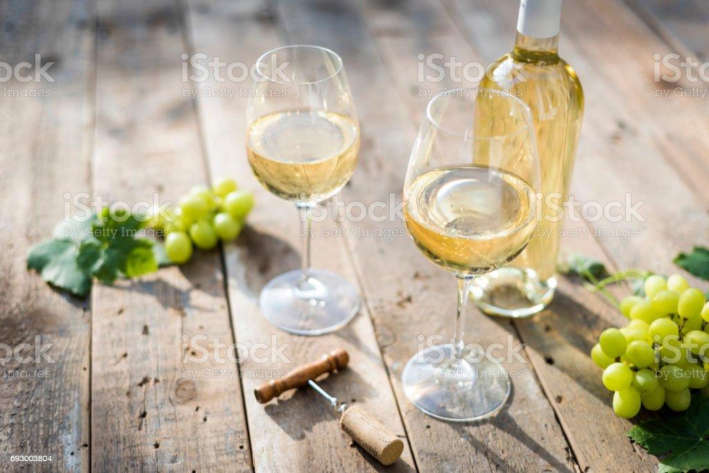 White wine - foto stock