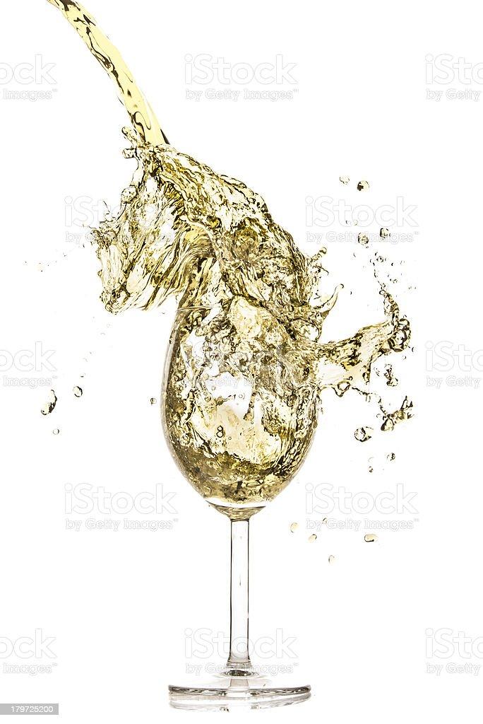 white wine splash royalty-free stock photo