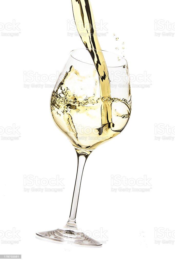 weiß Wein splash – Foto