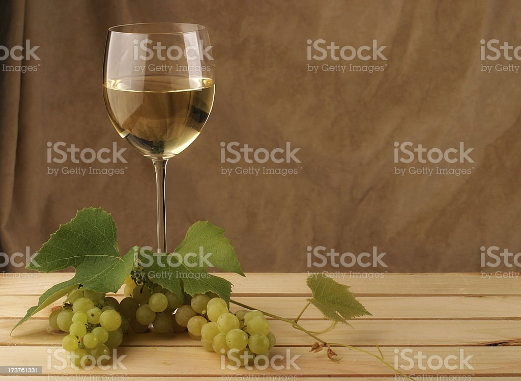 White Wine Still Life stock photo