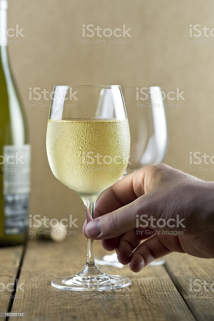 White wine tasting royalty-free stock photo