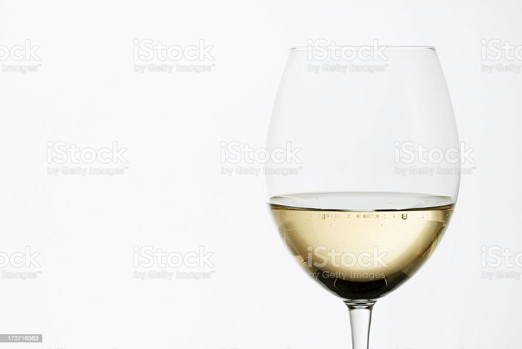 White wine with copy space royalty-free stock photo