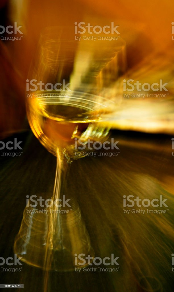 White Wineglass, Blurred Motion royalty-free stock photo