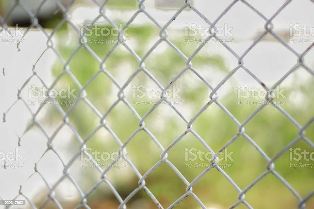 Weißer Draht Gitter Zaun Textur Für Hintergrund Stock-Fotografie und ...