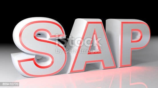 istock SAP white with red lighted border - 3D rendering 859410770