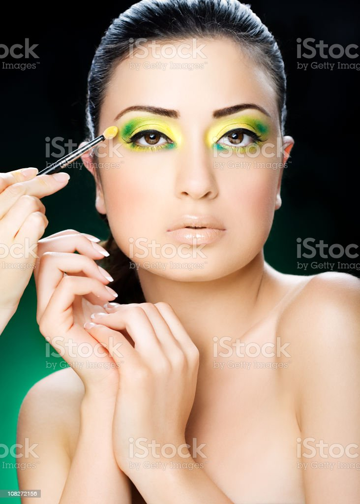 white woman with bright make-up royalty-free stock photo