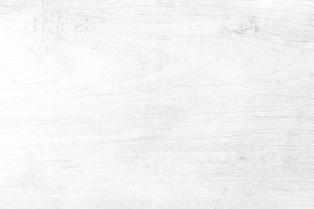 White Wood Board Texture Background. - foto stock