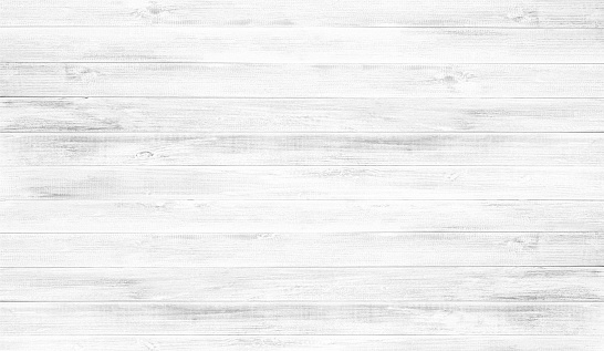 White wood floor texture background.