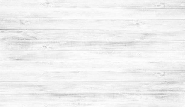 fond de plancher de bois blanc de texture. - table bois photos et images de collection