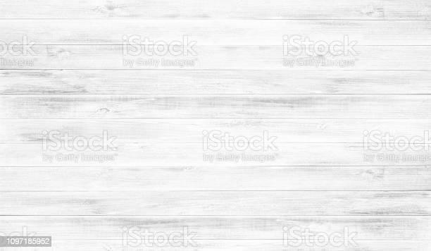 Photo of White wood floor texture background.