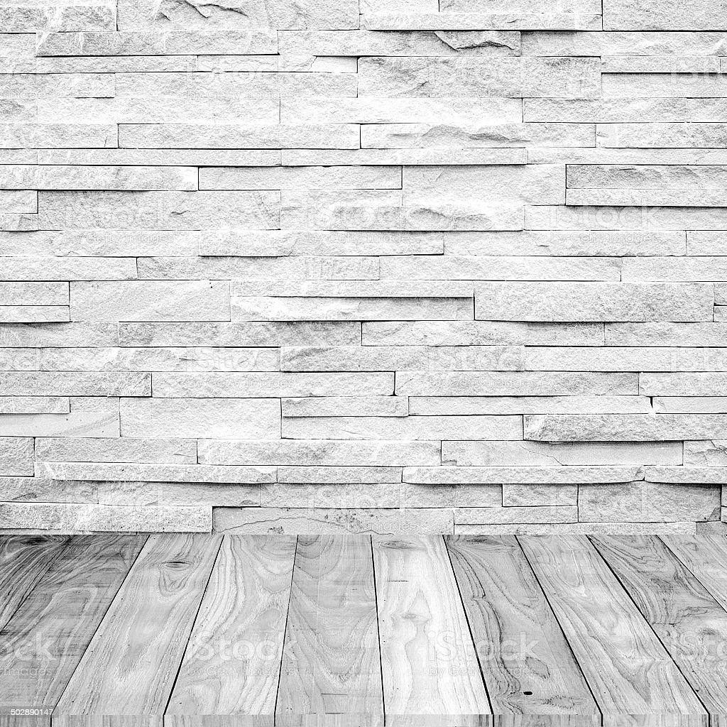 Legno bianco pavimento in marmo con un muro di pietra for Sfondo legno hd