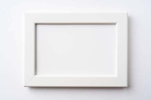 Weißer Holzrahmen fro mockup – Foto